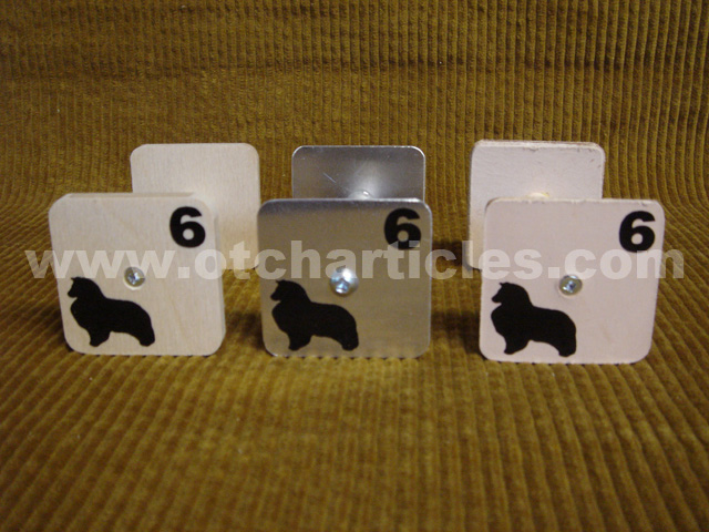 Sheltie decals on scent articles